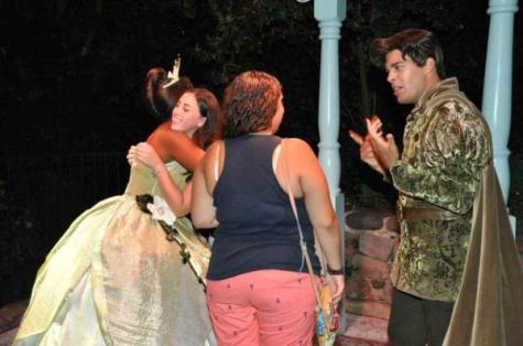 Britt and Theresa w Tiana and Naveen Candid 1