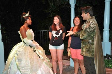 Britt and Theresa w Tiana and Naveen Candid 2
