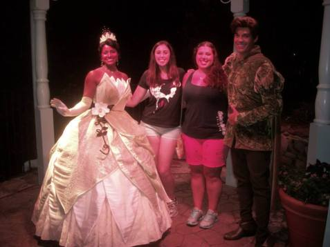 Britt and Theresa w Tiana and Naveen PAS