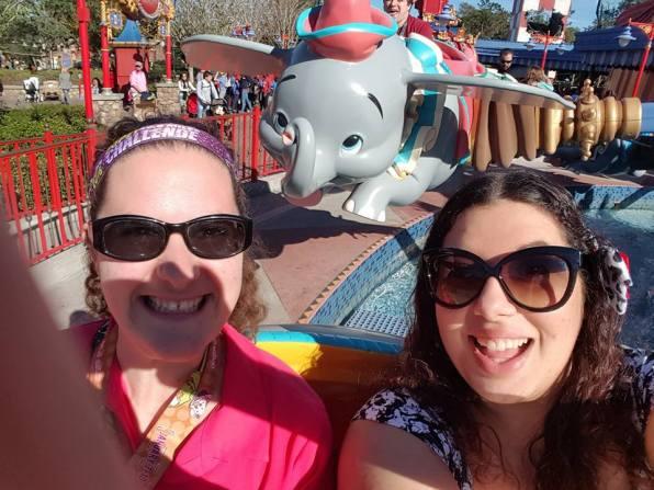 Sarah P and Britt on Dumbo