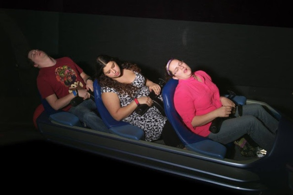 Space Mountain w Chaz and Sarah P.